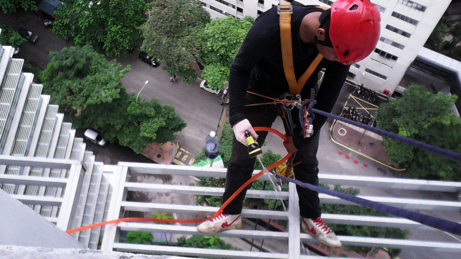 high rise external window cleaning